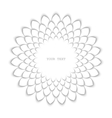 White sunflower vector image