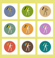 flat icons set of back to school concept on vector image
