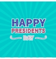 Blue sunburst with ray of light Presidents Day vector image