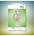 Exclamation mark Infographic with colored circles vector image