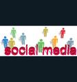 social media words people symbol text vector image vector image