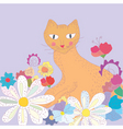 cat greeting vector image vector image