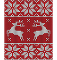 red christmas jumper vector image