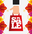 spring sale design vector image