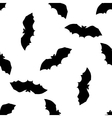 Hand drawn doodle Halloween bat Black pen objects vector image