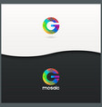 letter G logo alphabet mosaic icon set background vector image