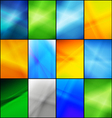 Set of mixed a4 size backgronuds vector image