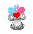 Snails in love vector image
