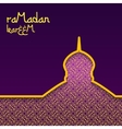 Template design concept background for ramadan vector image