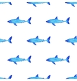 Watercolor shark pattern vector image