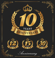10 Years Anniversary decorative logo vector image