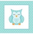 Sleeping owl Applique Patchwork Pattern vector image