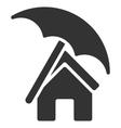 Home under Umbrella Flat Icon vector image