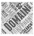 Hyphenated Domain Names Word Cloud Concept vector image