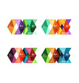 Set of color abstract arrow option infographic vector image