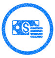 dollar cash rounded grainy icon vector image