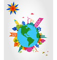 Colorful global transparent shapes vector image