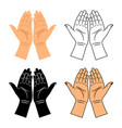 god pray blessed hands icons vector image