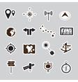 navigation stickers set eps10 vector image