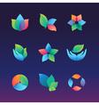 gradient ecology vector image