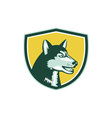 Siberian Husky Dog Head Crest Retro vector image