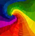 rainbow spectrum spiral polygon triangular pattern vector image
