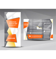 brochure origami element design vector image