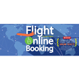 Flight Online Booking For Sale 1500x600 Banner vector image
