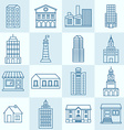 collection of linear icons vector image