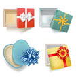 empty gift boxes vector image