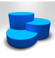 Infographic 3D pedestal with colorful vector image