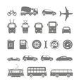 transport silhouettes vector image