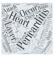 What is Pericarditis Word Cloud Concept vector image