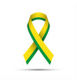 modern yellow green ribbon vector image vector image