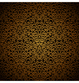 Vintage gold pattern vector image