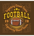American football vintage labels for poster vector image