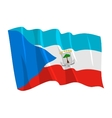 political waving flag of equatorial guinea vector image vector image