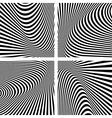 Abstract op art backgrounds set vector image
