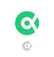 alpha logo grecian letter circle vector image