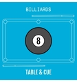 Billiard ball Sport flat icon Pool table and vector image