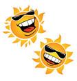 bright smiling happy sun cartoon vector image