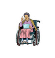 caucasian elderly woman disabled person in a vector image