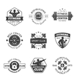 Fitness Gym Emblems Set vector image