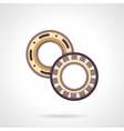 Mechanical bearings flat icon vector image
