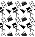 seamless pattern film movie chair megaphone and vector image