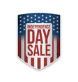 united states independence day sale banner vector image