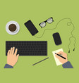workspace concepts for education vector image