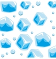 wallpaper ice cubes solid bubbles seamless pattern vector image