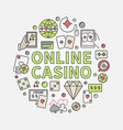 online casino round vector image