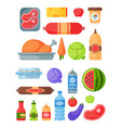 selection of healthy food diet dinner lunch vector image